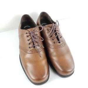 Nunn Bush Brown Leather Oxford Shoes